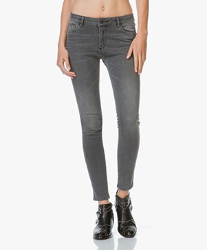 Anine Bing Mid Rise Skinny Jeans - Washed Grey
