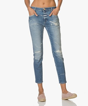 Closed Cropped Worker Jeans