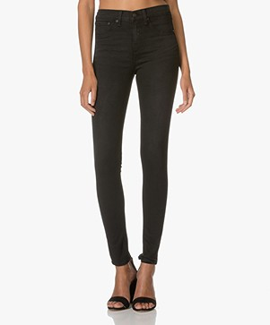 Rag & Bone / Jean High-rise Stretch Jeans Legging - Washed Black