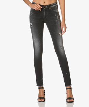 Denham Spray Super Skinny Fit Jeans - Washed Black