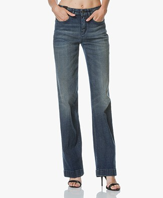Drykorn Hi Jeans with Wide Legs - Navy