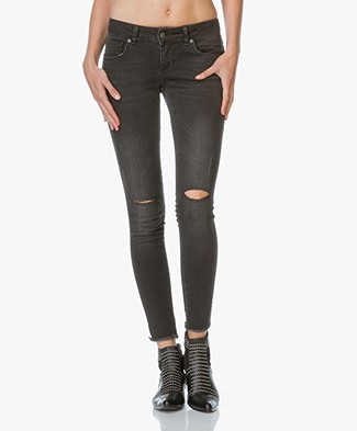 ANINE BING Ripped Jeans - Dark Grey