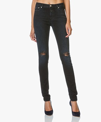 Closed Skinny Jeans Lizzy met Power Stretch - Torn Washed
