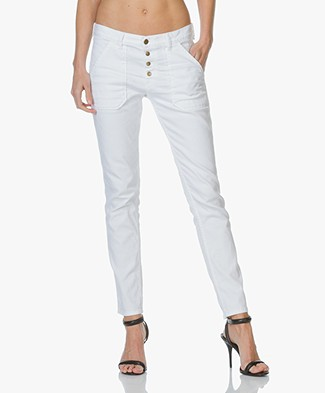 Ba&sh Marc Girlfriend Jeans - White