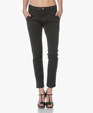 Ba&sh Sally Girlfriend Jeans - Blackstone
