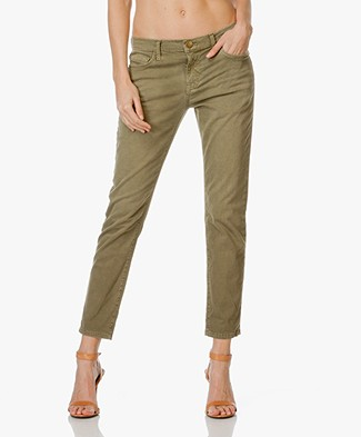 Current/Elliott The Fling Relaxed Fit Pants - Army Green