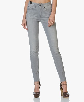 Drykorn Soon High Rise Skinny Jeans - Light Grey