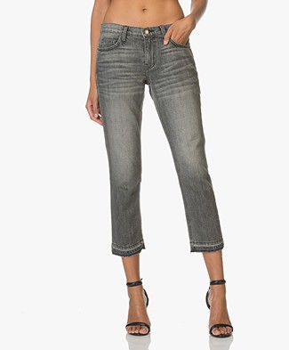 Current/Elliott The Cropped Straight Leg Jeans - Metal