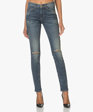 Current/Elliot The High Waist Skinny Jeans - Division Destroy