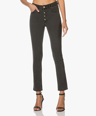 Anine Bing High Waisted Button up Jeans - Charcoal