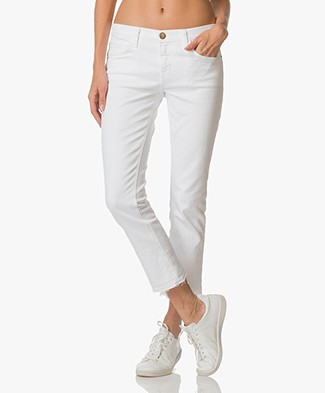 Current/Elliott The Cropped Straight Leg Jeans - Sugar Released