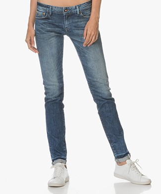 Denham Sally Striaght Fit Selvedge Jeans - Mid-blue