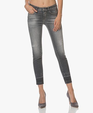 Closed Baker Cropped Jeans with Unfinished Hem - Grey