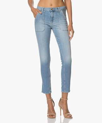 Ba&sh Girlfriend Jeans Sally - Light Used Blue