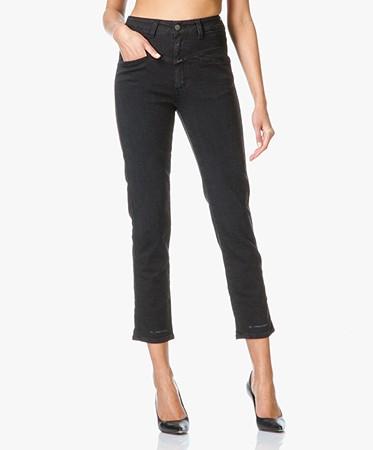 closed pedal pusher x pocket jeans black pedal pusher c88002 02x 4w l 100 noir. Black Bedroom Furniture Sets. Home Design Ideas