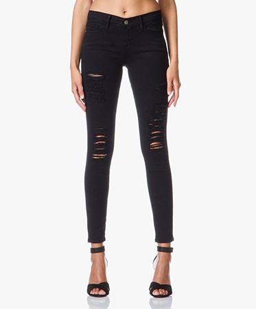 Frame Denim - Frame Le Skinny de Jeanne Distressed Jeans - Le Color Rip Film  Noir
