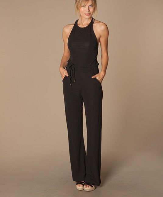 Filippa K Crepe Halter Jumpsuit - Black