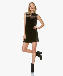 Rag & Bone Danni Velvet Tunic Dress - Black