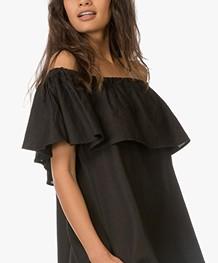 Anine Bing Off-Shoulder Dress - Black