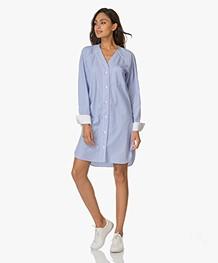 Rag & Bone Shults Striped Shirt Dress - Blue/White