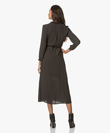 Indi & Cold Midi-jurk met Stippen - Zwart