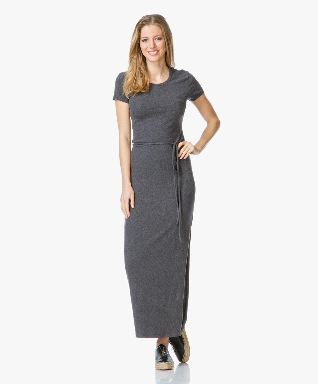 James Perse Jersey Maxi Tee Dress - Grey - wmu6905 hca