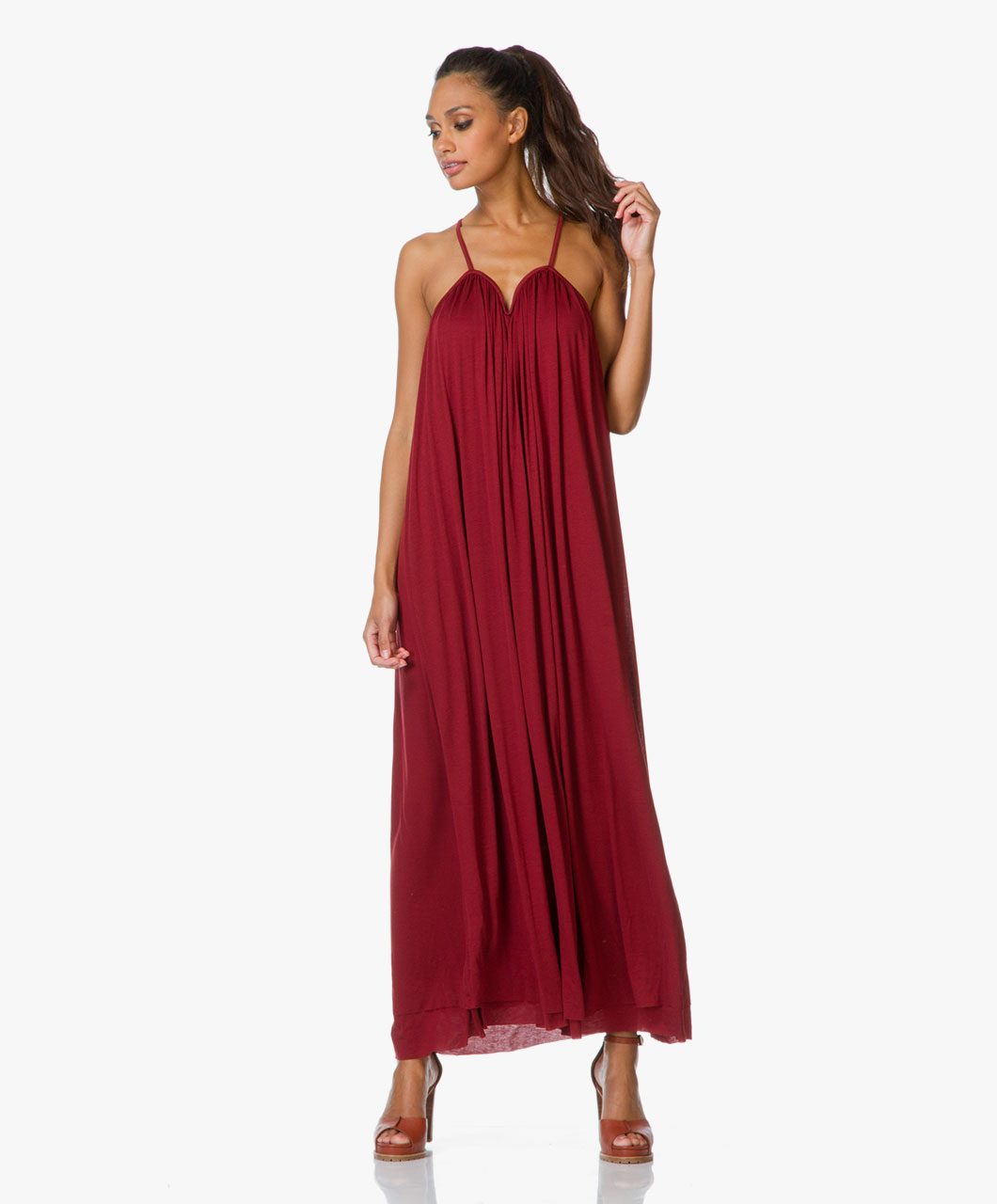 Filippa k red dress halter