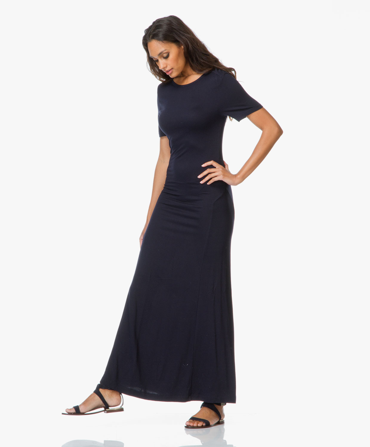 Filippa K Maxi T-shirt Dress - Navy - Filippa K