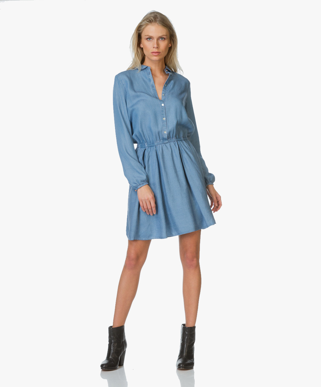 BOSS Orange Clace Denim Shirt Dress - Open Blue - clace | 50332785 460 -  dark