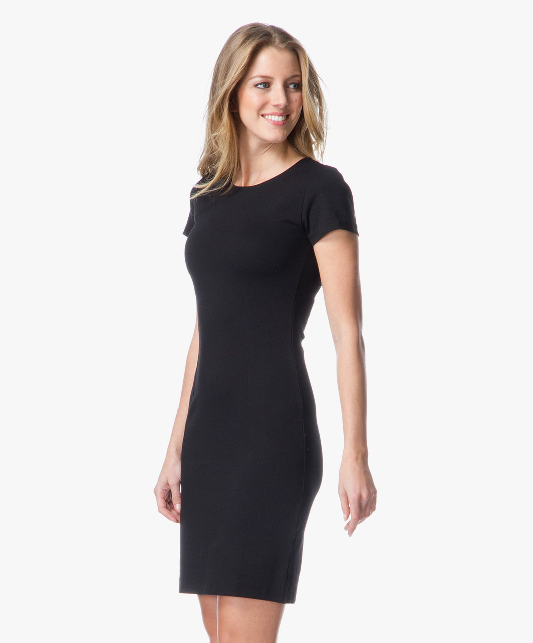 Klassiek Zwart Jurkje.Filippa K Classic Jersey Dress Black Filippa K
