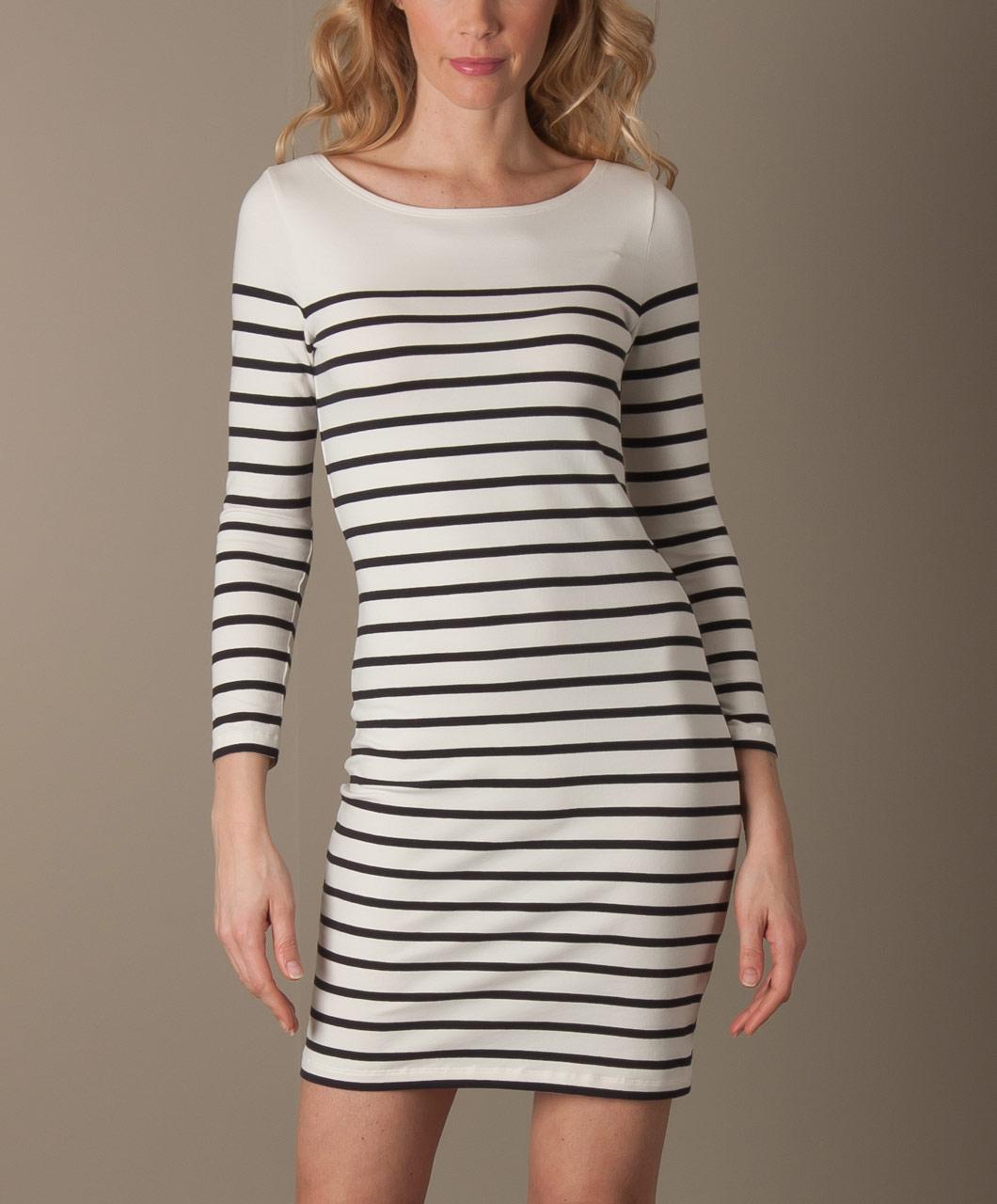 Filippa K Sailor Stripe Dress - Offwhite/Dk.Navy