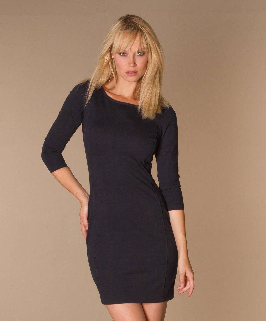 Filippa k tailored jersey dress black