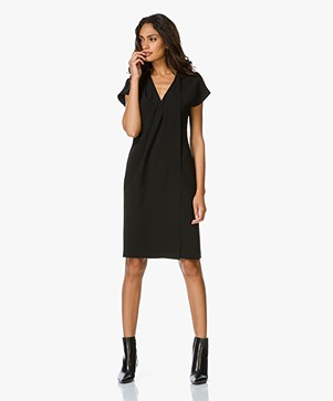 Alexander Wang Wrap Dress with Chain - Black