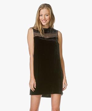 Rag & Bone Danni Velvet Tunic Dress - Black