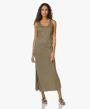 Majestic Linen-Jersey Maxi Dress