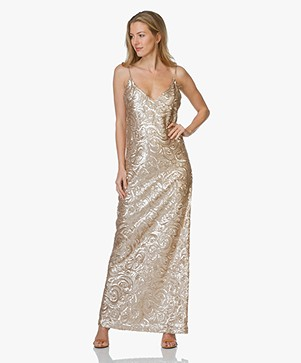 Anine Bing Champagne Sequin Gown