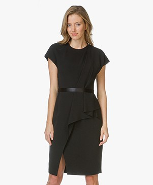 Alexander Wang Belted Draped Pencil Jurk - Zwart