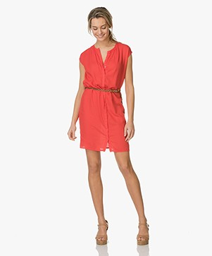 BY-BAR Lina Cotton Tunic Dress - Red