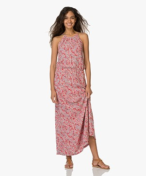 Indi & Cold Maxi-dress with Paisley Print - Red/Multi