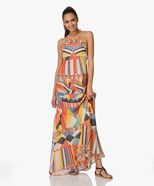 Ba&sh Flash A-line Print Jurk