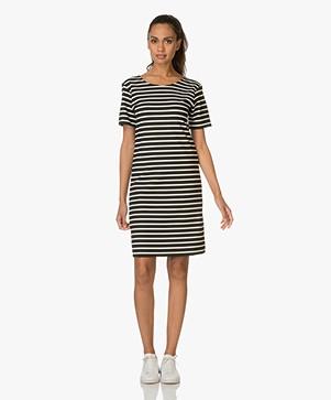 Breizh La Delice Striped Dress - Black/Ecru