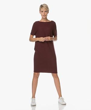 Drykorn Samisa Knitted Dress - Burgundy