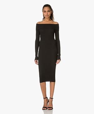 By Malene Birger Hoppes Off-shoulder Dress - Black