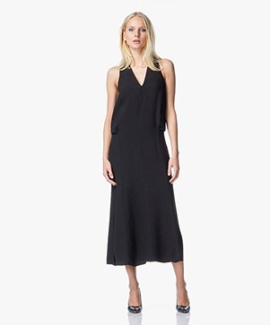 Helmut Lang Tissue Silk Dress - Black