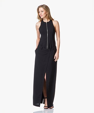T by Alexander Wang Drape Suiting Wrap Dress