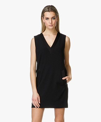 Rag & Bone Phoebe V-neck Tunic Dress - Black
