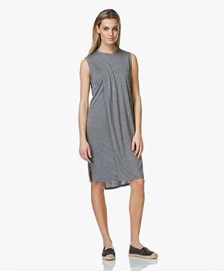T by Alexander Wang Overlap Dress with Pocket - Grijs Mêlee