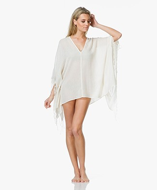 SU Paris Kimala Cotton Kaftan with Fringes