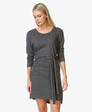 Closed Melange Jersey Wrap Dress - Dark Grey