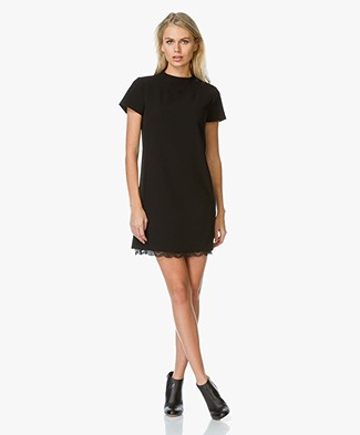 Theory Jasneah Crepe Dress - Black